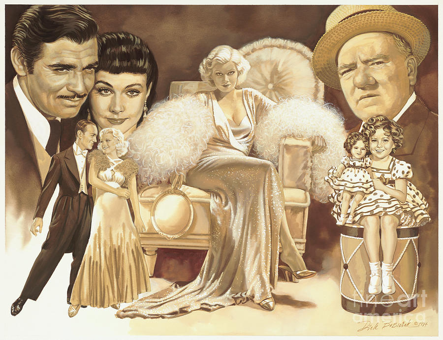 Hollywoods Golden Era Painting  - Hollywoods Golden Era Fine Art Print