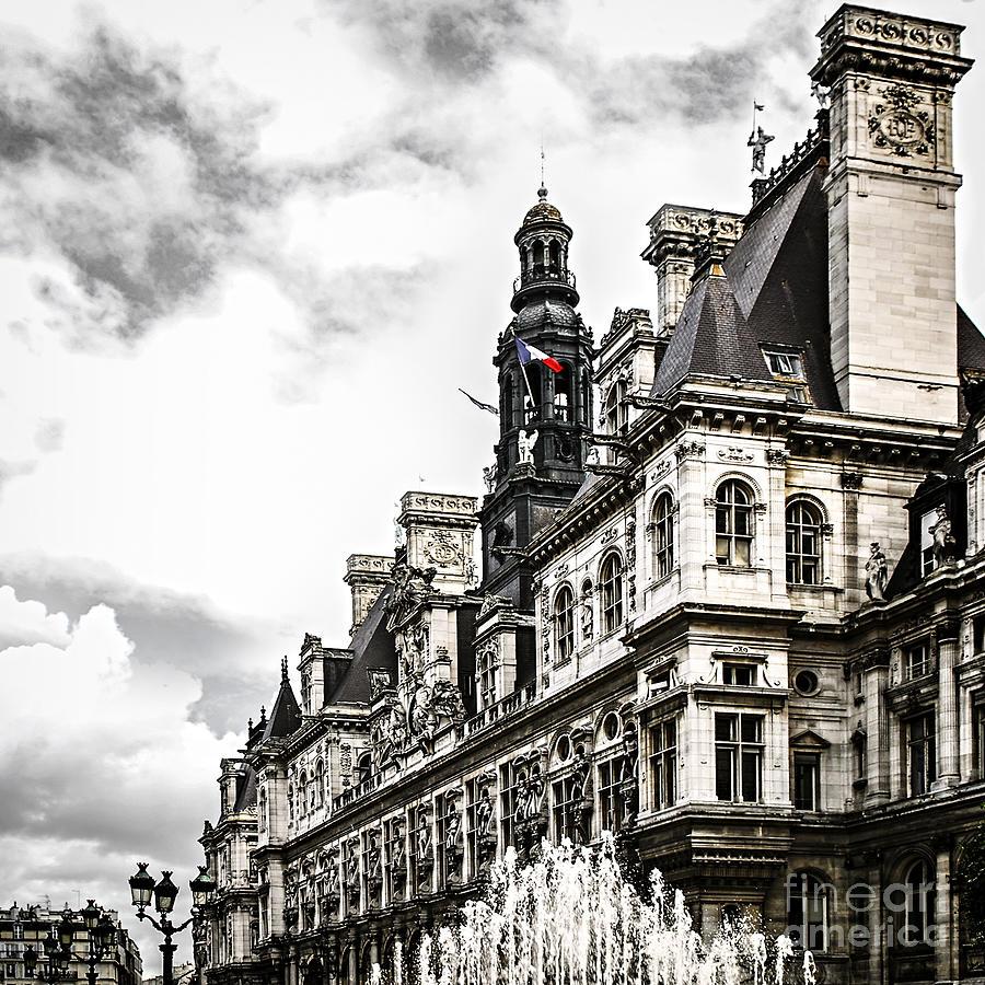 Hotel Photograph - Hotel De Ville In Paris by Elena Elisseeva