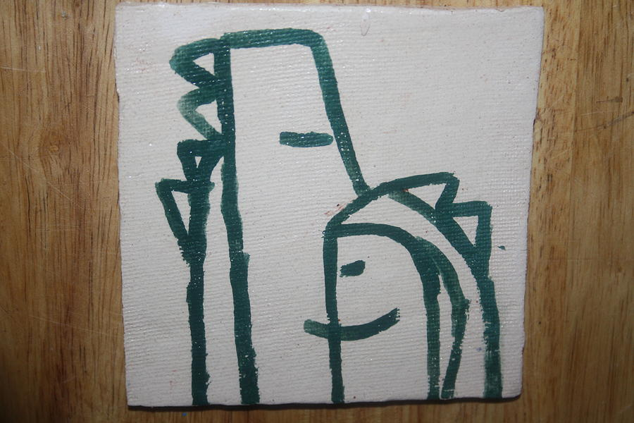 Hugs - Tile Ceramic Art  - Hugs - Tile Fine Art Print
