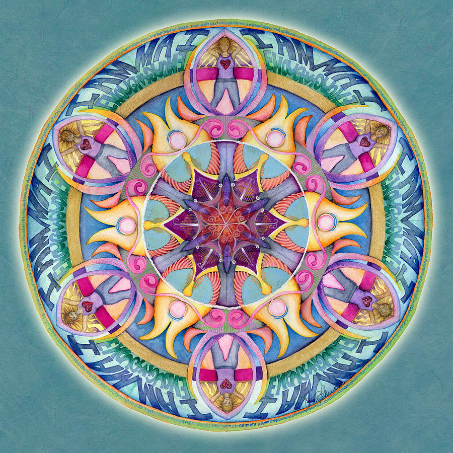 I Am Enough Mandala Painting  - I Am Enough Mandala Fine Art Print