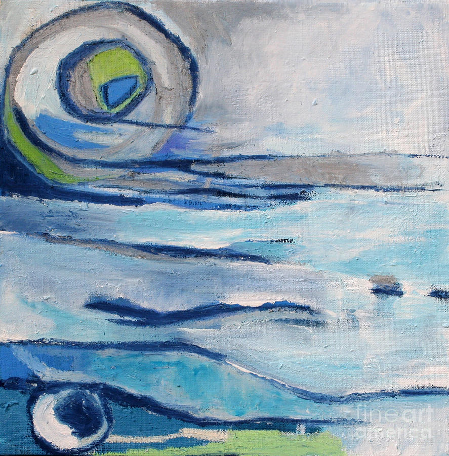 Icy Waters Mixed Media  - Icy Waters Fine Art Print