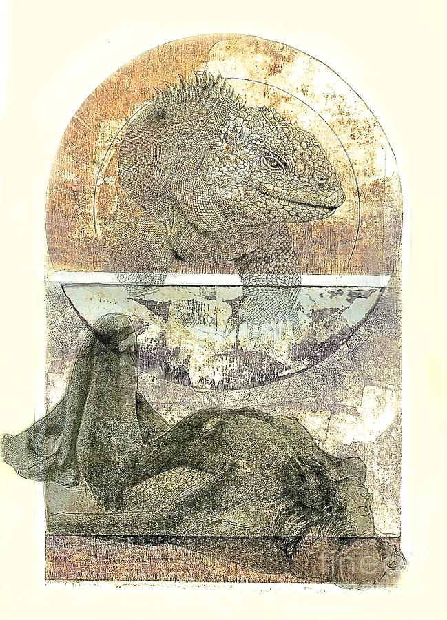 Iguana Dreams Mixed Media