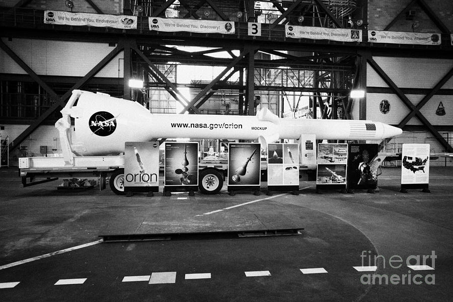 interior of the vehicle assembly building with mockup of ...