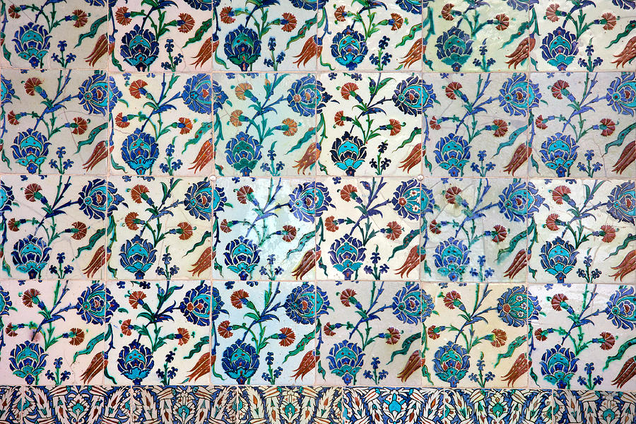 Iznik Ceramics With Floral Design Photograph