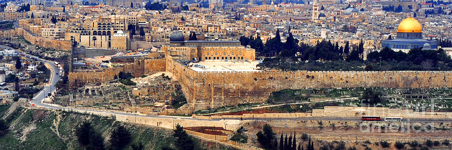 Jerusalem From Mount Olive Photograph  - Jerusalem From Mount Olive Fine Art Print