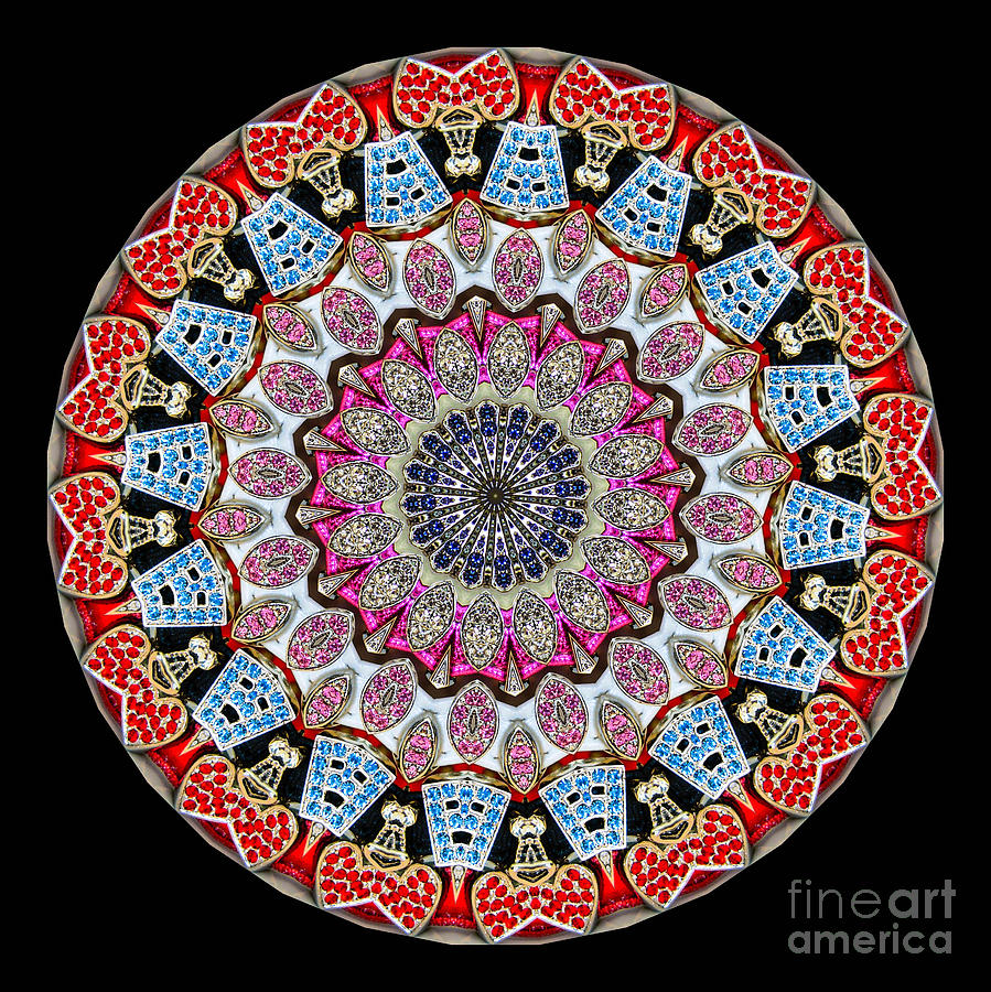 Kaleidoscope Colorful Jeweled Rhinestones Photograph  - Kaleidoscope Colorful Jeweled Rhinestones Fine Art Print