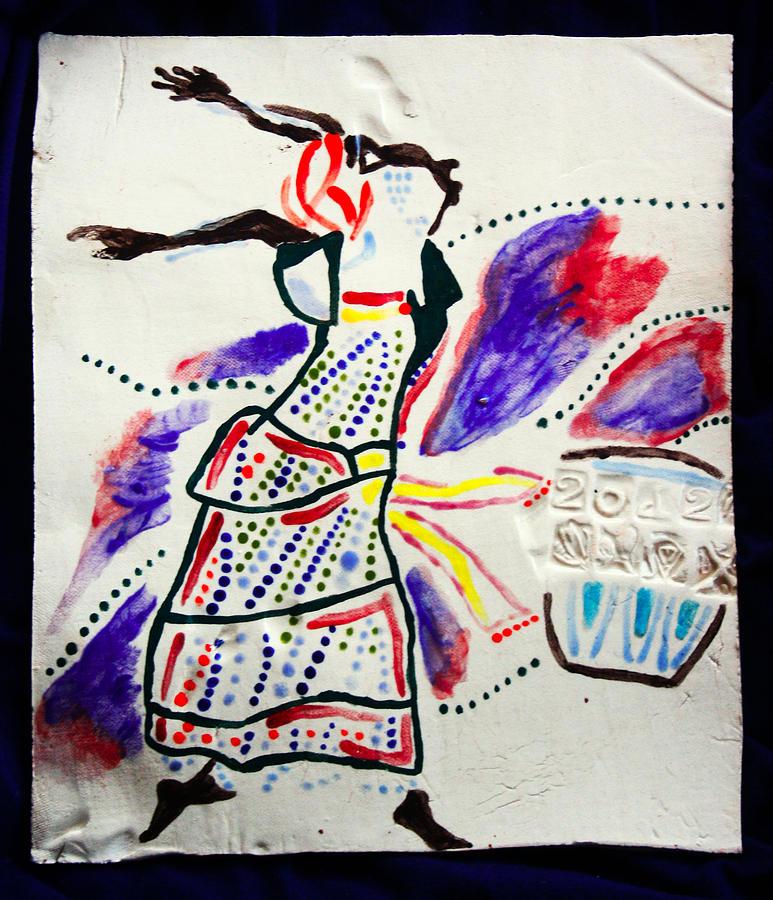 Jesus Ceramic Art - Kiganda Dance - Uganda by Gloria Ssali