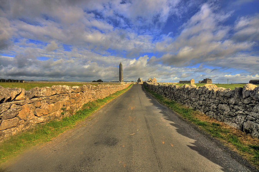 Kilmacduagh Round Tower Photograph