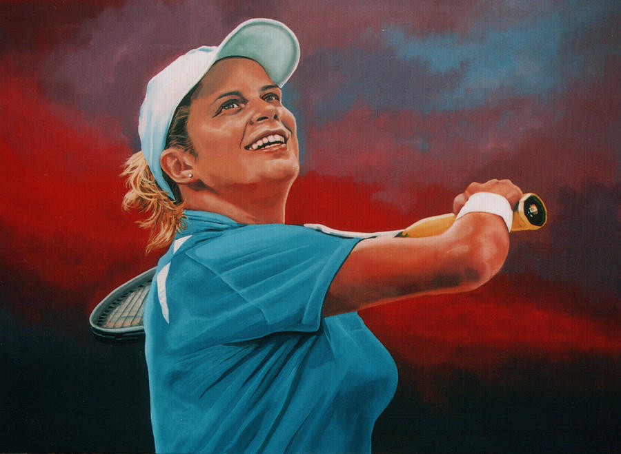 Kim Clijsters Painting  - Kim Clijsters Fine Art Print