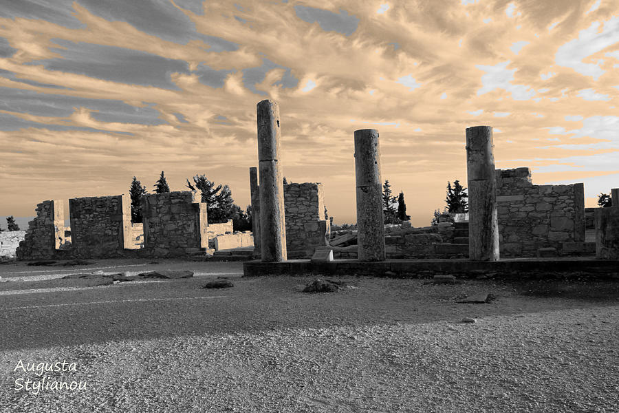 Ancient Photograph - Kourion-temple Of Apollo by Augusta Stylianou