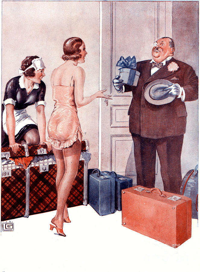 1920�s Drawing - La Vie Parisienne 1920s France Cc by The Advertising Archives