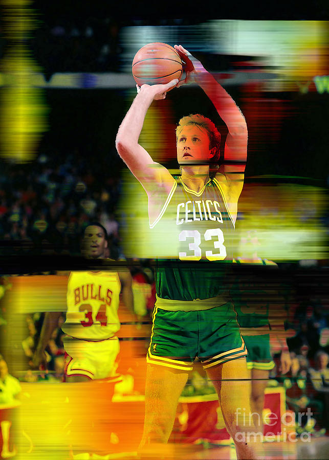 Larry Bird Mixed Media