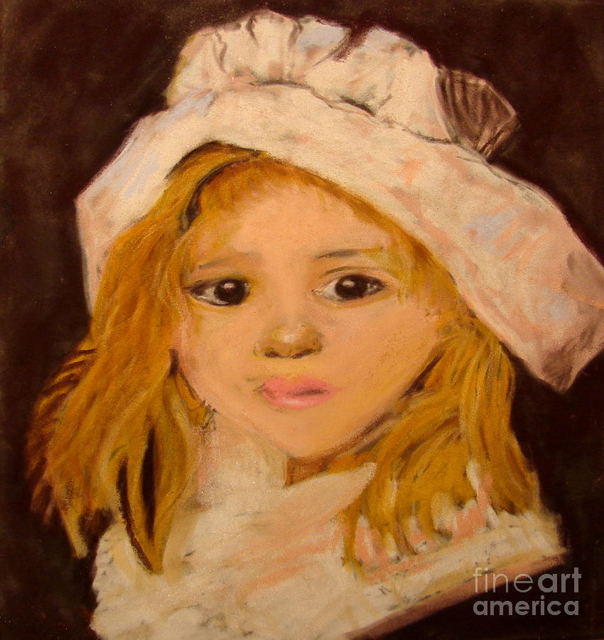 Little Girl Pastel  - Little Girl Fine Art Print