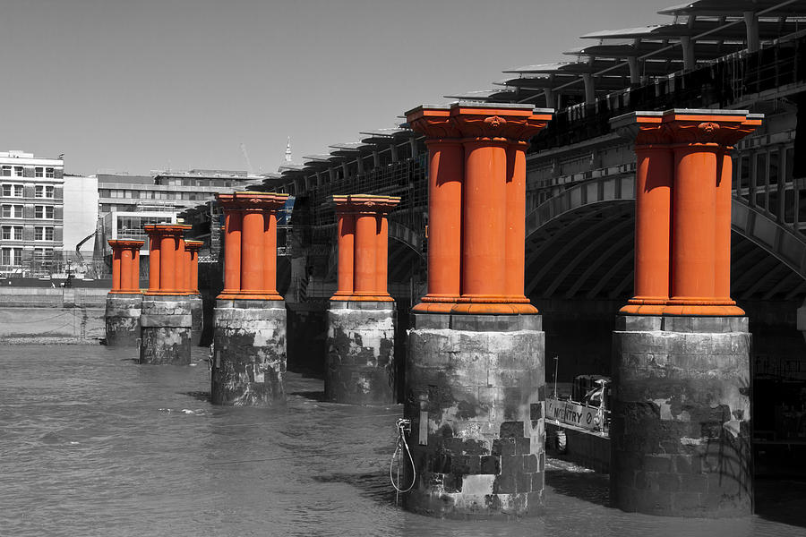 London Thames Bridges Photograph