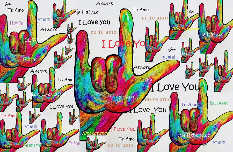 Love In Any Language Painting  - Love In Any Language Fine Art Print