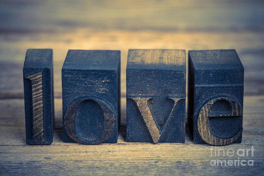 Love In Printing Blocks Photograph