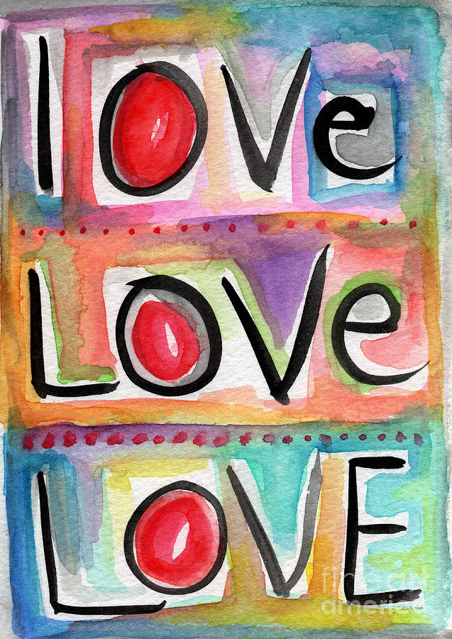Love Mixed Media  - Love Fine Art Print