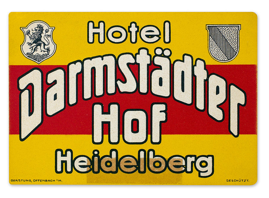20th Century Photograph - Luggage Label by Granger