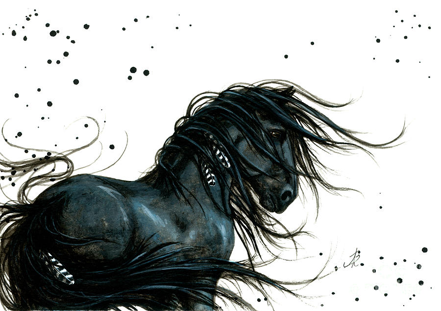 Majestic Friesian 48 Painting