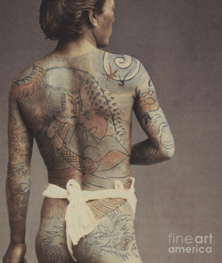 Man With Traditional Japanese Irezumi Tattoo Photograph  - Man With Traditional Japanese Irezumi Tattoo Fine Art Print