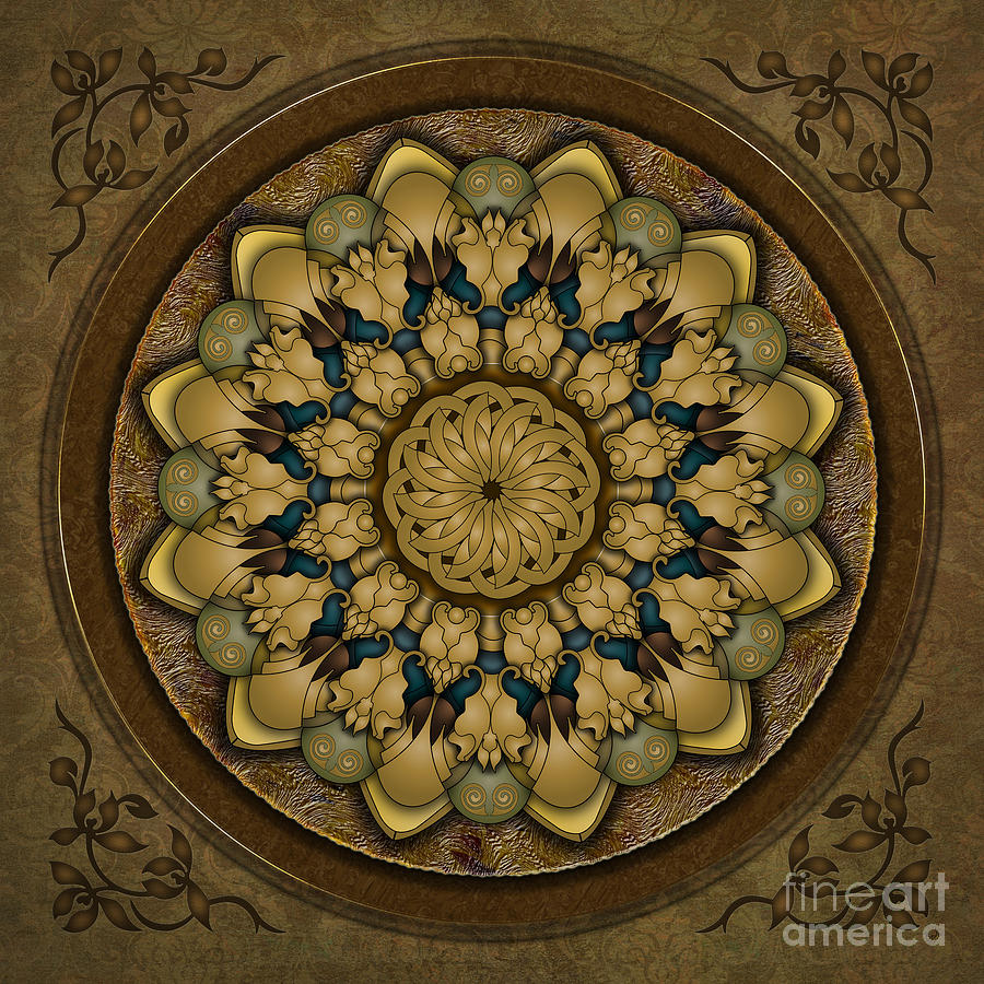 Mandala Earth Shell Digital Art