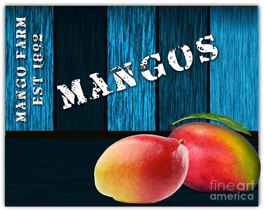 Mango Farm Sign Mixed Media