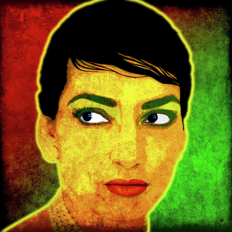 Maria Callas Digital Art by Gary Grayson