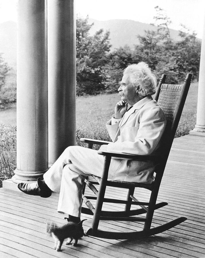 Mark Twain On A Porch Photograph