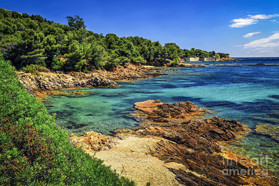Mediterranean Coast Of French Riviera Photograph  - Mediterranean Coast Of French Riviera Fine Art Print