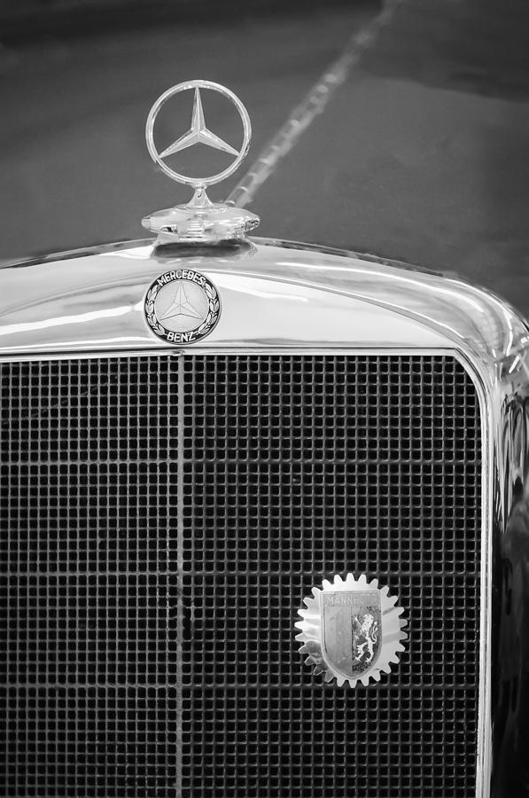 Mercedes benz hood ornament emblem photograph by jill reger for Mercedes benz hood ornament