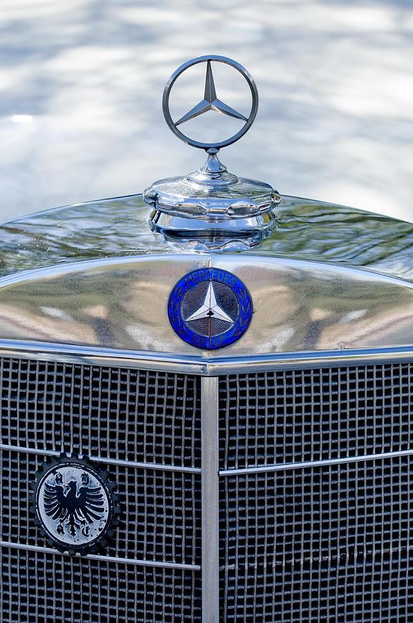 Mercedes benz hood ornament photograph by jill reger for Mercedes benz ornaments