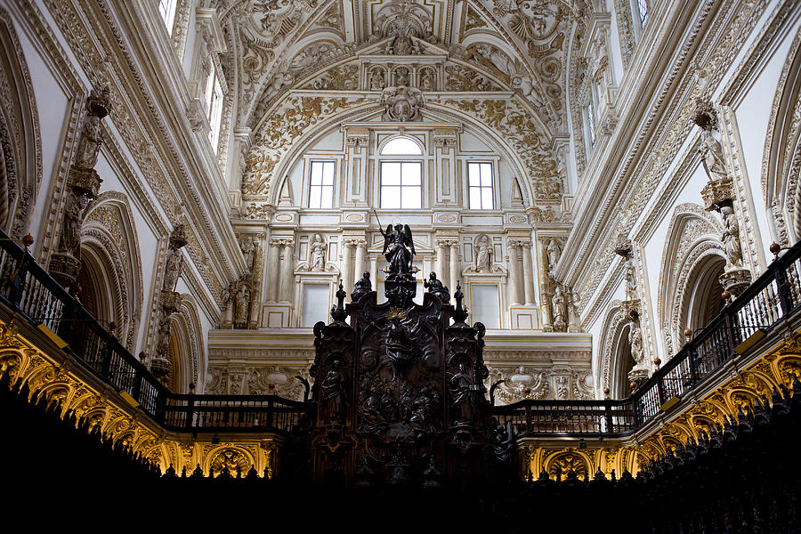 Mezquita Cathedral Interior In Cordoba Photograph