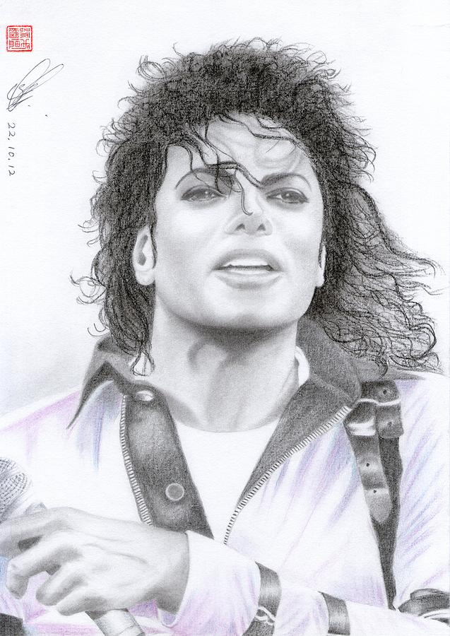 Michael Jackson - Bad Tour Drawing  - Michael Jackson - Bad Tour Fine Art Print