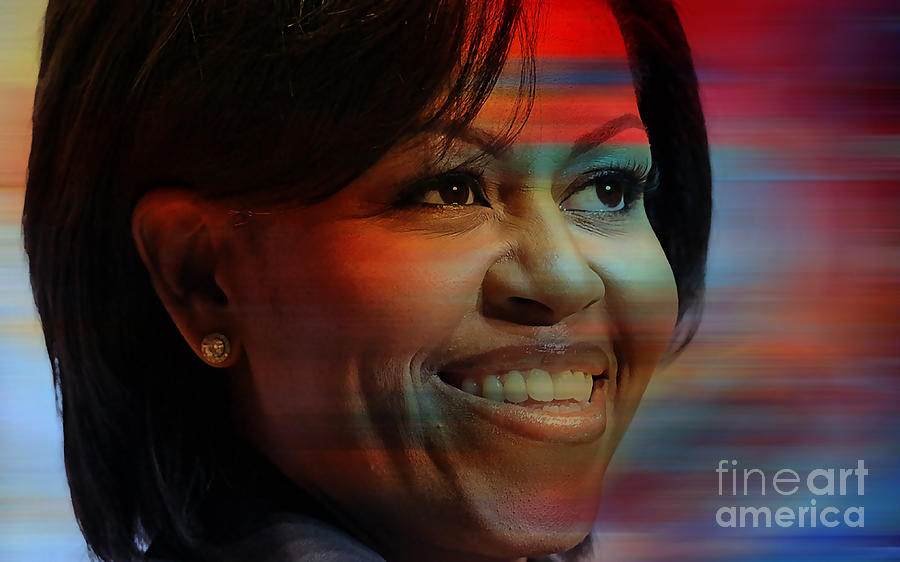 Michelle Obama Photographs Mixed Media - Michelle Obama by Marvin Blaine