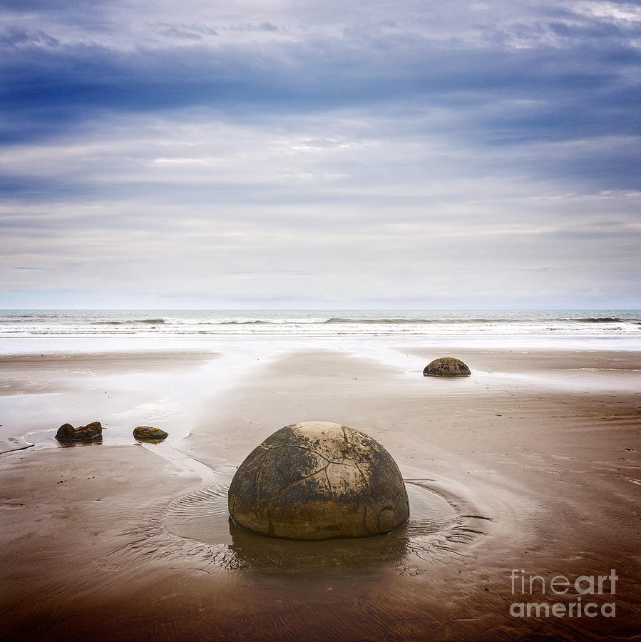 Moeraki Boulders Otago New Zealand Photograph
