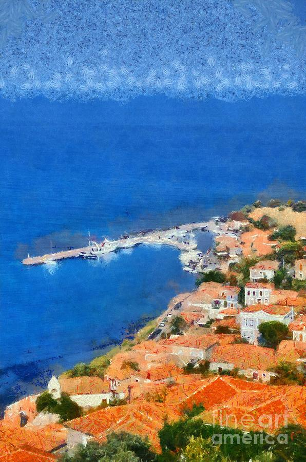 Molyvos Town Painting