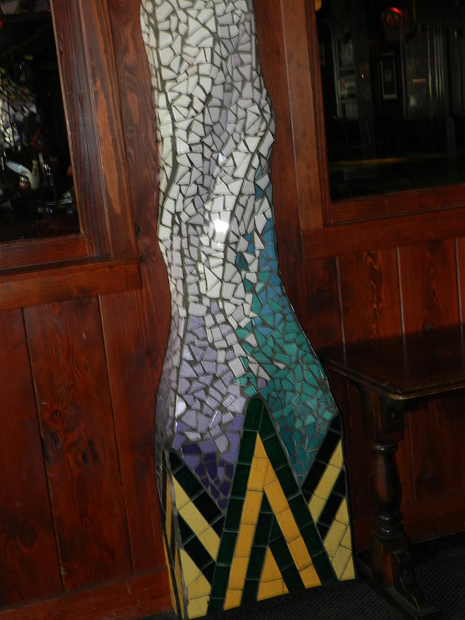 Mosaic Pillar Ceramic Art