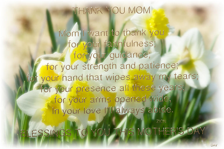 Mothers Day Card Photograph