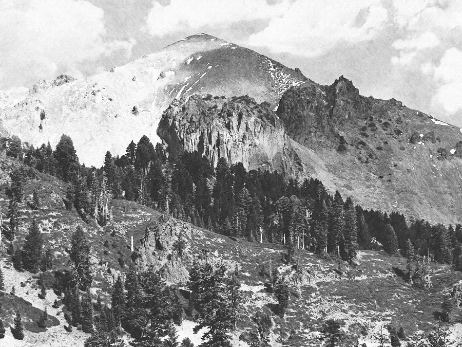 Mount Lassen Volcano Photograph