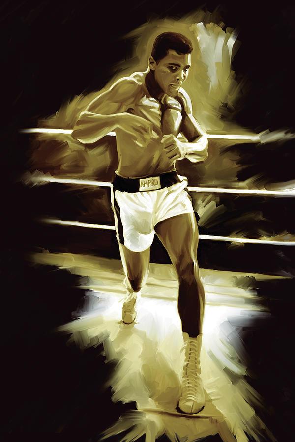 Muhammad Ali Boxing Artwork Painting