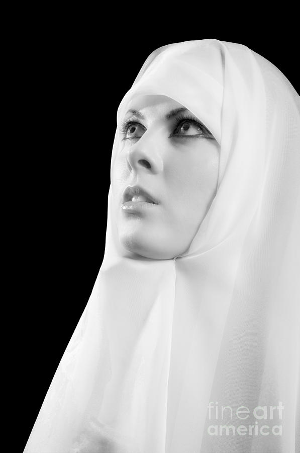 Nun Praying Photograph