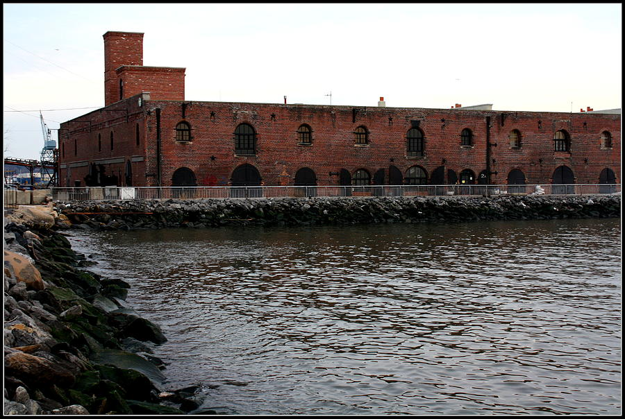 Old Brooklyn Pier Warehouse - Landscapes - New York Photograph - Old Brooklyn Pier Warehouse by Dora Sofia Caputo Photographic Art and Design