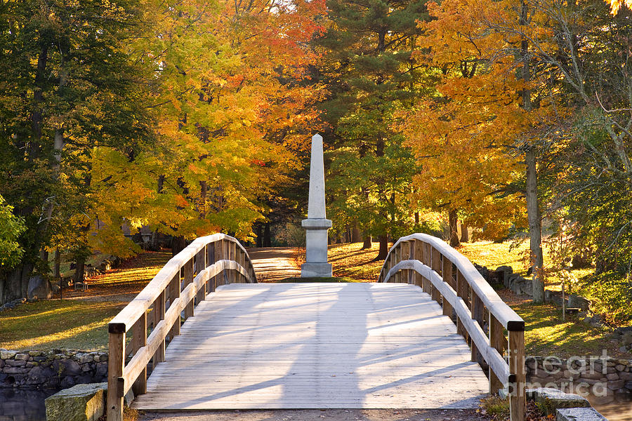 Old North Bridge Concord Photograph