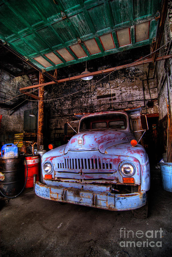 Antique Photograph - Old Pickup Truck Hdr by Amy Cicconi