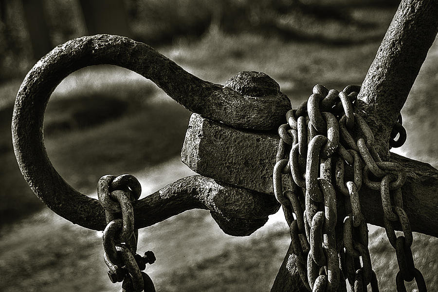 Abstract Photograph - Old Rusty Anchor by Erik Brede