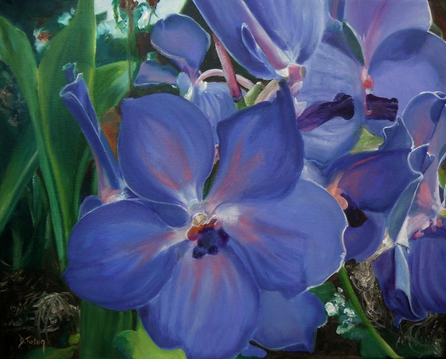 Flower Painting - Orchids by Donna Tuten