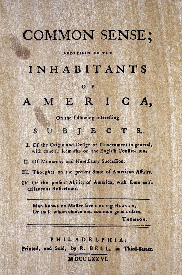 1776 Photograph - Paine: Common Sense, 1776 by Granger