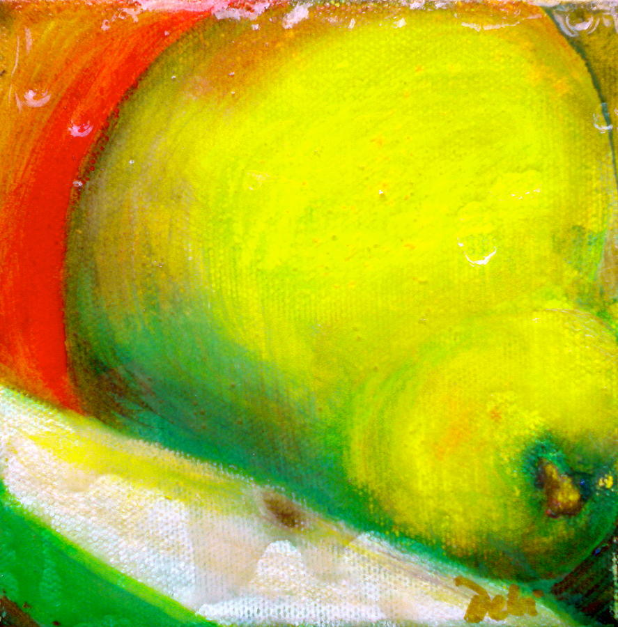 Pear Painting - Pair Of Pears by Debi Starr