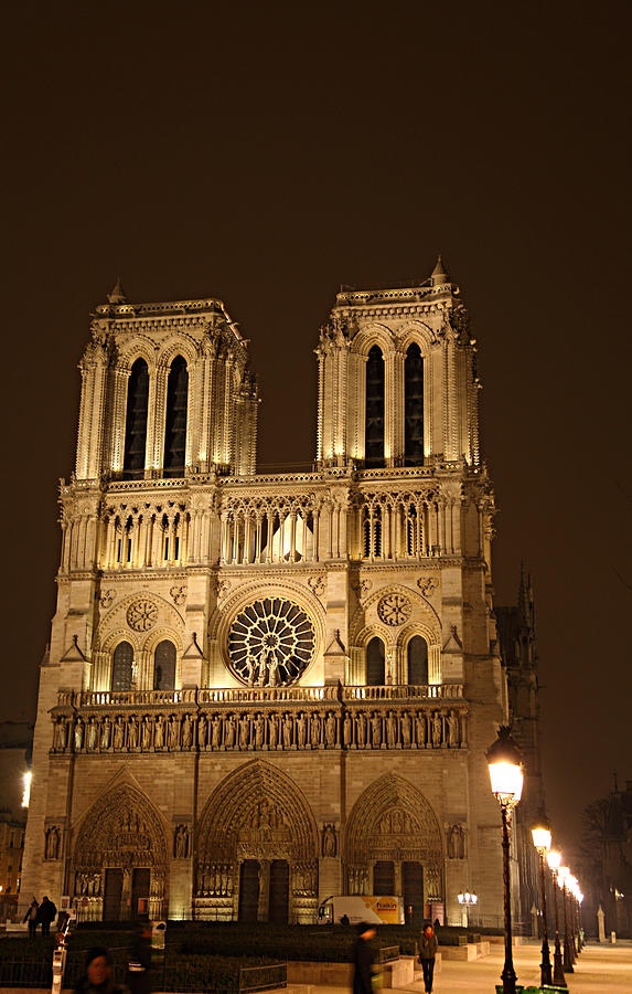 Paris France - Notre Dame De Paris - 01131 Photograph  - Paris France - Notre Dame De Paris - 01131 Fine Art Print