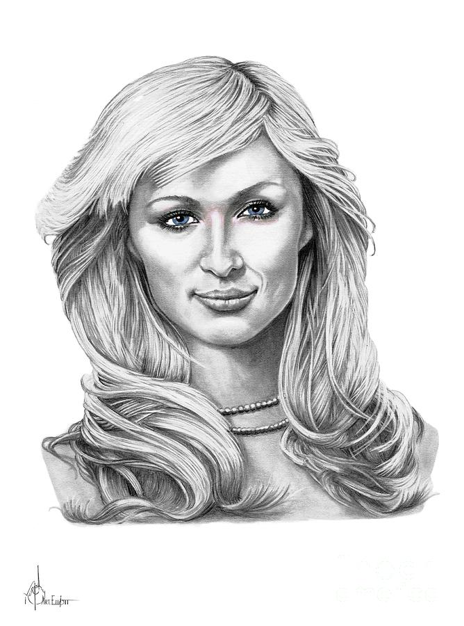 Paris Hilton Drawing